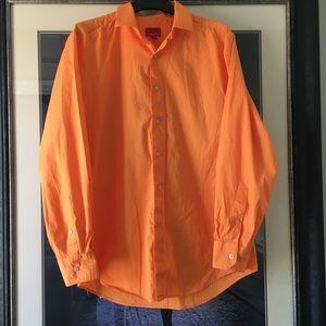 ALFANI Slim Fit Men's Botton Down Shirt - Size M